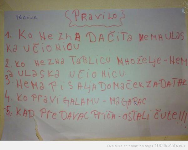 Pravila u učionicu