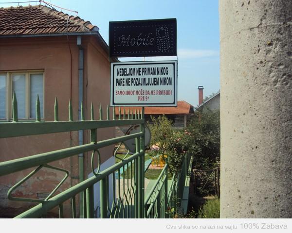 Upozorenje komšijama