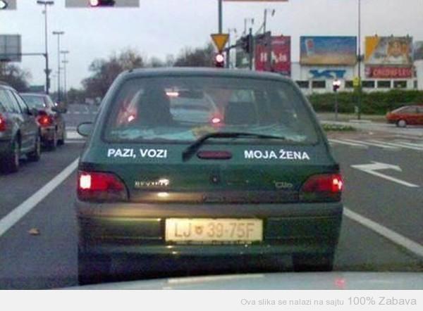Vozi žena