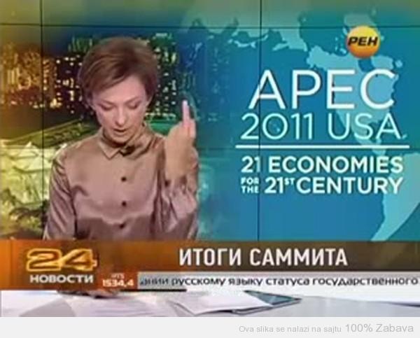Ruska voditeljka pokazala srednji prst Obami